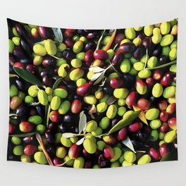 Organic Olives Wall Tapestry