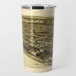 Aerial View of Glassport, Pennsylvania (1902) Travel Mug