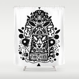 kozmik machine Shower Curtain