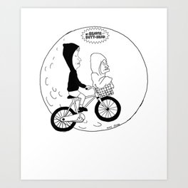 Beavis and Butthead Extra Terrestrial Graphic T-Shirt Art Print