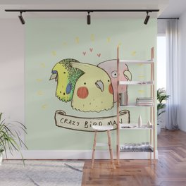 Crazy Bird Man Wall Mural