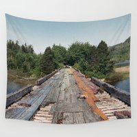 bridge Wall Tapestries featuring Rainbow Bridge by Kevin Russ