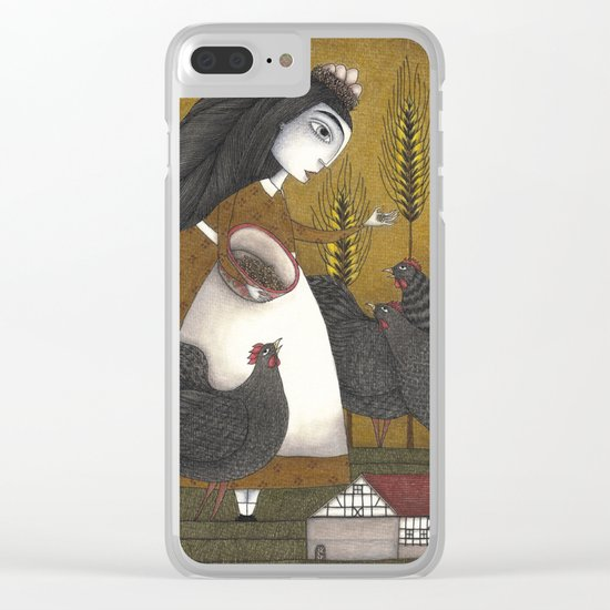 Ira's Hens Clear iPhone Case