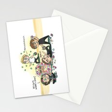 Flower Fight Stationery Cards