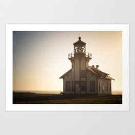 Dusk Lighthouse Art Print