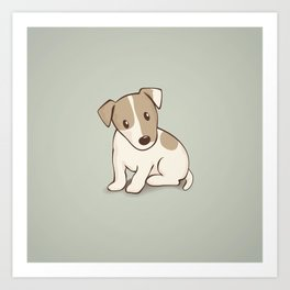 Jack Russell Terrier Dog Illustration Art Print