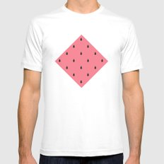 Watermelon Pattern MEDIUM White Mens Fitted Tee