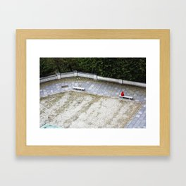 Red Covered Loneliness Framed Art Print