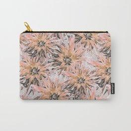 Peach with gray dahlias Carry-All Pouch