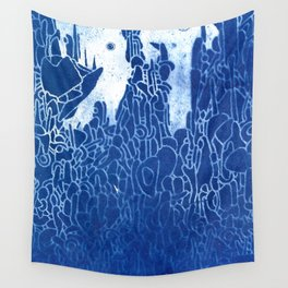 cyano spire Wall Tapestry