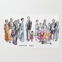 downton abbey Area & Throw Rugs featuring Downton Abbey by Yvette