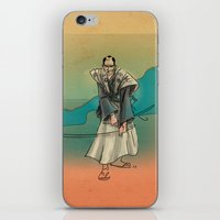 samurai iPhone & iPod Skins featuring Samurai by David Finley