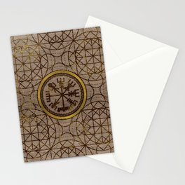 Vegvisir. The Magic Navigation Viking Compass Stationery Cards