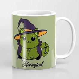 Witchy Kitty Green Coffee Mug