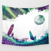 surfer Wall Tapestries featuring Time surfer  by jbjart