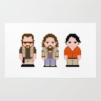 big lebowski Area & Throw Rugs featuring The Big Lebowski  by PixelPower