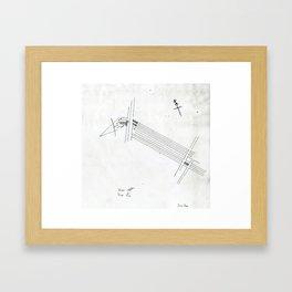 Site Plan Framed Art Print