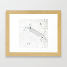 Site Plan Framed Art Print