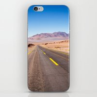 chile iPhone & iPod Skins featuring Route 27, Atacama - Chile by klausbalzano
