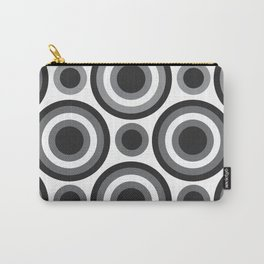 Circle Circle: Black, White + Grey Carry-All Pouch