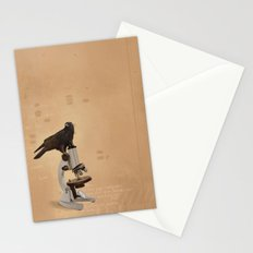 Science Crow Stationery Cards