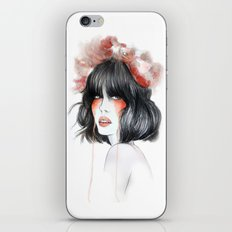 Flower Crown // Fashion Illustration iPhone & iPod Skin