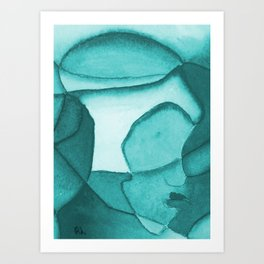 Contemplation - Blue Art Print