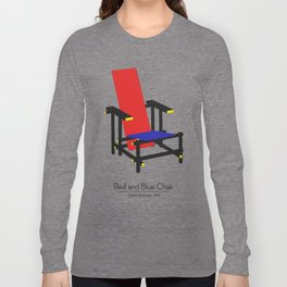 Red and Blue chair - Rood Blauwe stoel - Gerrit Rietveld Long Sleeve T-shirt