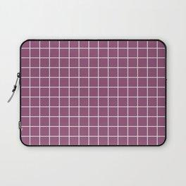 Sugar Plum - violet color - White Lines Grid Pattern Laptop Sleeve