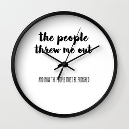 The people Wall Clock