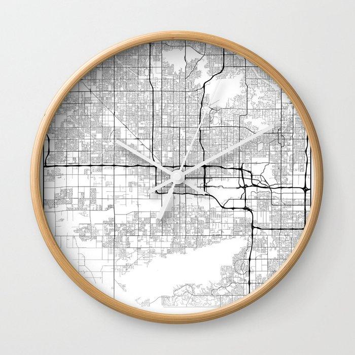 Map Of Just Arizona.Minimal City Maps Map Of Phoenix Arizona United States Wall Clock By Valsymot
