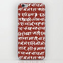 Sanskrit // Burnt Umber iPhone Skin