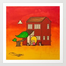 Hannah And Her Wee Girls Art Print