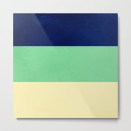 South Pacific Colorblock Stripes Metal Print
