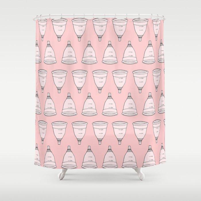 Coupes menstruelles - Menstrual cups Shower Curtain