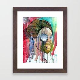 her Face Framed Art Print