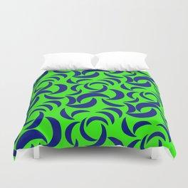 Many Moons - Green Duvet Cover