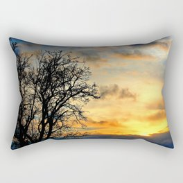 Tree Silhouettes at Sunset  Rectangular Pillow