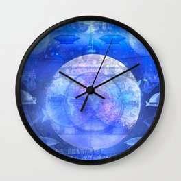 Dirigible Moon Wall Clock