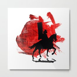Japan Samurai Metal Print