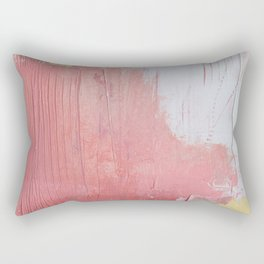 Melody: a pretty minimal abstract painting in gold pink and white by Alyssa Hamilton Art Rectangular Pillow