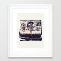 huebucket Framed Art Prints featuring COLOR BLINDNESS by Huebucket
