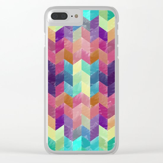 Crystal Geometric Background Clear iPhone Case