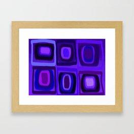 Violets in Blue Windows Framed Art Print