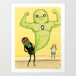 """Members"" of the Justice League: Green Lantern Art Print"