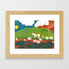 Yuko Nagamori | Hi to Tsuki no Aidani, 2011 Framed Art Print