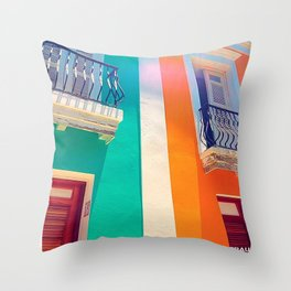 Old San Juan Throw Pillow