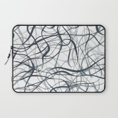 curvy gray & black Laptop Sleeve