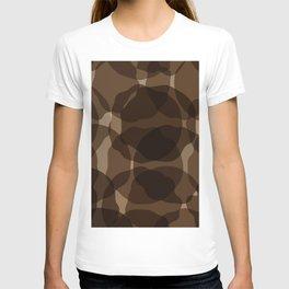 Brown abstract T-shirt