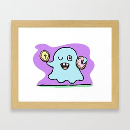 Is That More Food? The Elusive Donut Ghost. Framed Art Print